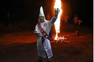 This photo was identified as Imperial Wizard Frank Ancona on the website of the Traditionalist American Knights.