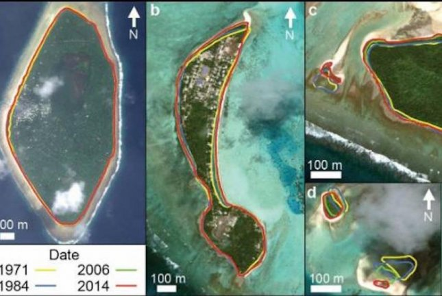 Tuvalu bigger than 40 years ago