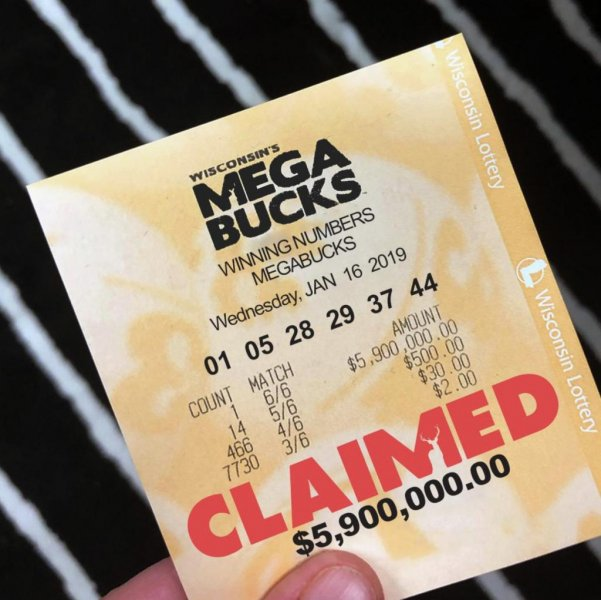 Matthew Neal had until July 15 to claim the jackpot. Photo courtesy of the Wisconsin Lottery