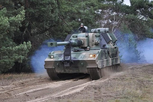 The Kruk self-propelled howitzer, based on a South Korean design, has been ordered by the Polish military. Polish Ministry of Defense photo