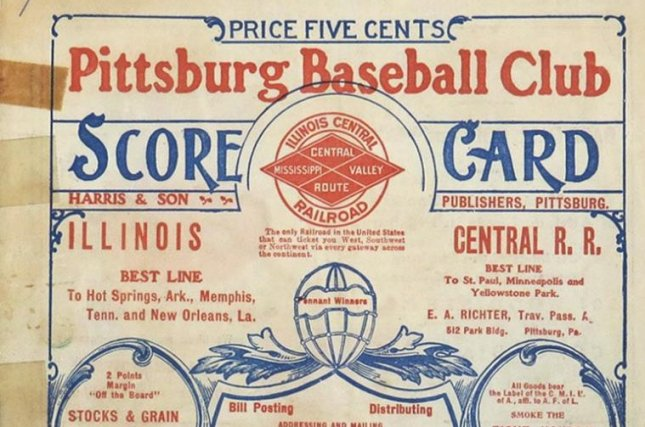 A program from the 1903 World Series is being auctioned off. Photo Courtesy Huggins & Scott Auctions