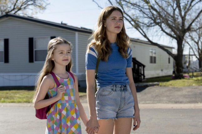 Heather (Olivia Welch, right) walks with her sister (Kariana Karhu) in the show Panic. Photo courtesy of Amazon Studios