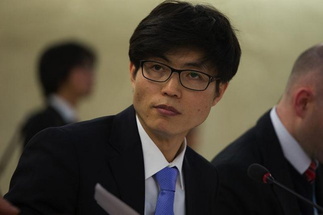 Shin Dong-Hyuk, North Korean defector, appearing before the UN. Photo by U.S. Mission Geneva/Eric Bridiers/Flickr.