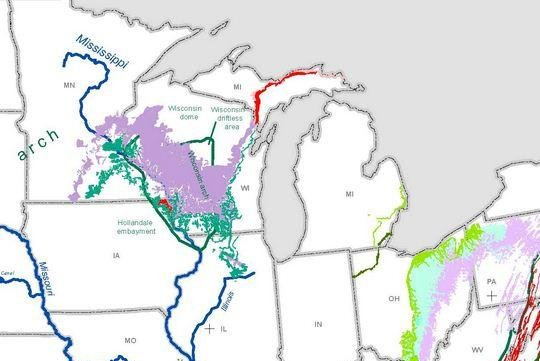 USGS studies find the United States holds big lead in use of frac sands, with most of the minerals coming from western Great Lakes states. Map courtesy of the U.S. Geological Survey