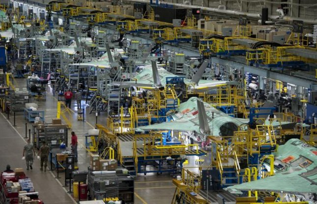 Lockheed Martin announced an adjustment to its production schedule of F-35 fighter planers on Tuesday, indicating the company will likely fall short of delivering a planned 141 planes by the end of 2020. Photo courtesy of Lockheed Martin