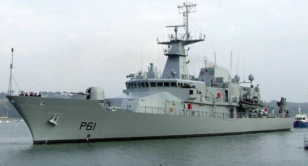 The LE Samuel Beckett, a first-of-class offshore patrol vessel of the Irish Naval Service. Photo courtesy of Ireland Defense Force