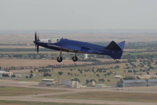 An experimental Bugatti 100p airplane performs during a test flight in October in Oklahoma, according to this photo from the group who created the plane. The aircraft crashed Saturday, killing the pilot aboard. Photo courtesy Bugatti 100p Project