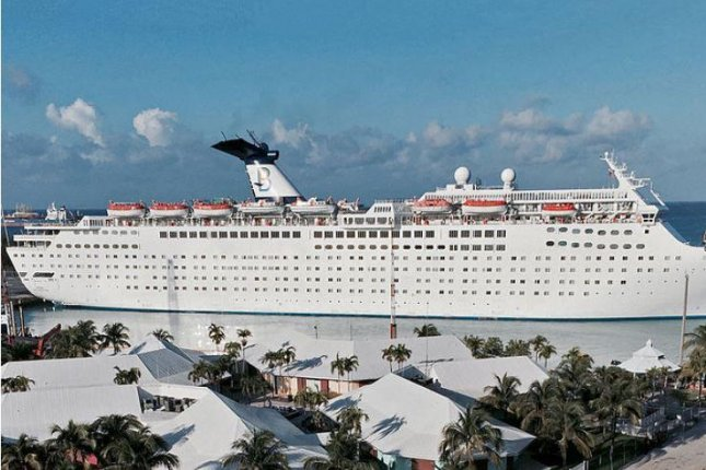 The cruise ship Grand Celebration, docked in Freeport, Bahamas, has been contracted by FEMA to house National Guard members in St. Thomas, Virgin Islands, assisting in the recovery after Hurricane Irma. Photo by Wikimedia Commons/Arnold Reinhold