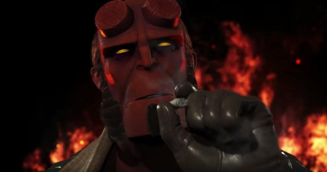 Dark Horse Comics character Hellboy joins the roster of fighting game Injustice 2 in a new cinematic trailer. Photo courtesy of Warner. Bros. Interactive Entertainment/YouTube