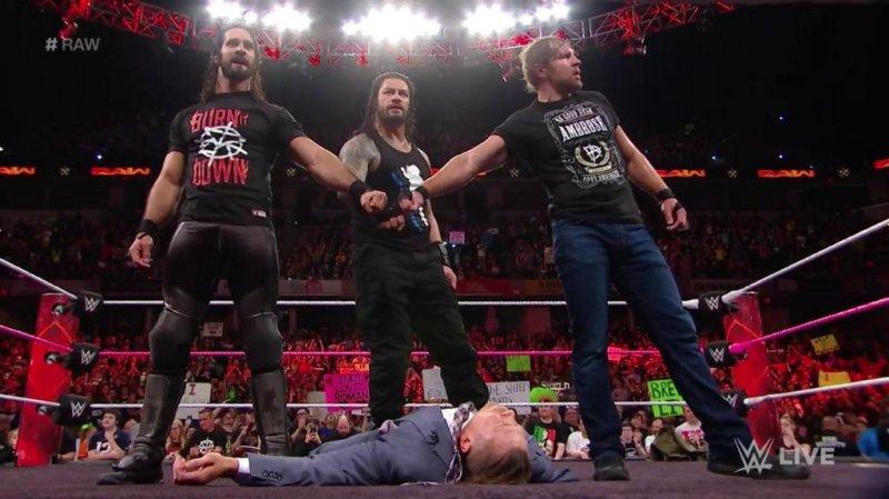 Wwe Raw Roman Reigns Seth Rollins Dean Ambrose Reunite As The