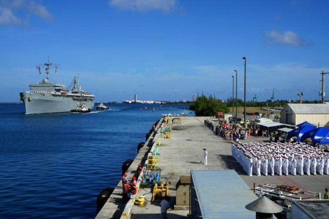 Adm. Philip Davison, chief of the U.S. Indo-Pacific Command, called for increased defense of Guam and consistent arms sales to Taiwan in an address on Wednesday. Photo by MCS Seaman Destiny Reed/U.S. Navy