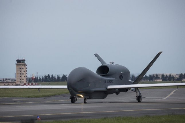 The RQ-4 Global Hawk UAV, pictured, will be employed by NATO to collect border, ground and maritime surveillance for security, defense, counterterrorism and disaster relief coordination. U.S. Air Force photo