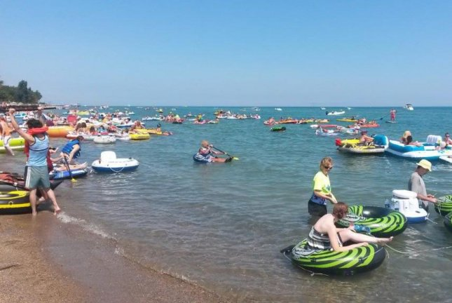 The Port Huron Float Down kicks off at Lighthouse Beach in Port Huron, Michigan. (Facebook)