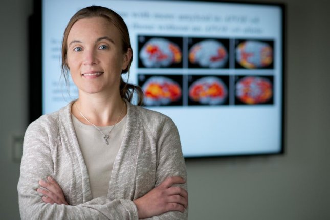 Dr. Shannon Risacher, pictured, and researchers at Indiana University found participants in a recent study using over-the-counter drugs that block the neurotransmitter acetylcholine have reduced cognitive function, lower brain metabolism and overall lower brain volume. Photo by Indiana University