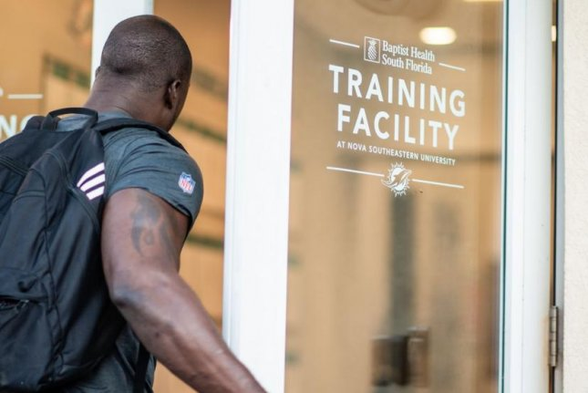 NFL teams must provide masks and screen players and staff members daily as part of the league's protocols for a return to team facilities amid the coronavirus pandemic. Photo courtesy of the Miami Dolphins