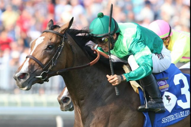 Sistercharlie, seen winning the 2018 Beverly D. at Arlington Park, is among the favorites for Saturday's Grade I Diana at Saratoga. Photo courtesy of New York Racing Association