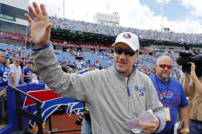 Pro Football Hall of Fame quarterback Jim Kelly (pictured) will undergo an unexpected checkup after something came up in his recovery from surgery that removed oral cancer and reconstructed his upper jaw. Photo courtesy of Buffalo Bills/Twitter