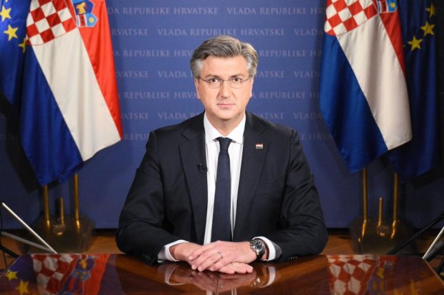 Croatian Prime Minister Andrej Plenkovic was already in self-isolation when his coronavirus test results came back positive on Monday. Photo courtesy of Croatian Prime Minister Andrej Plenkovic/Twitter