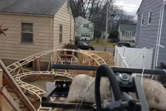 Watch: Roller coaster built from wood, steel, PVC in owner ...