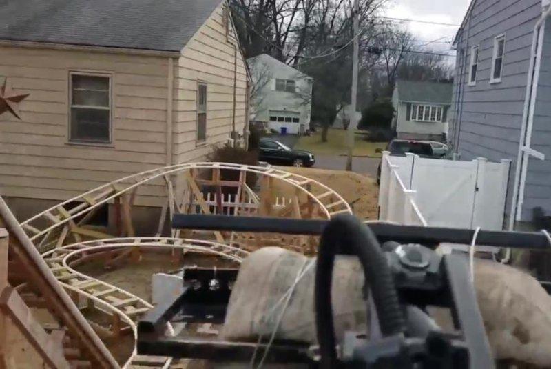 New York state family builds backyard roller coaster