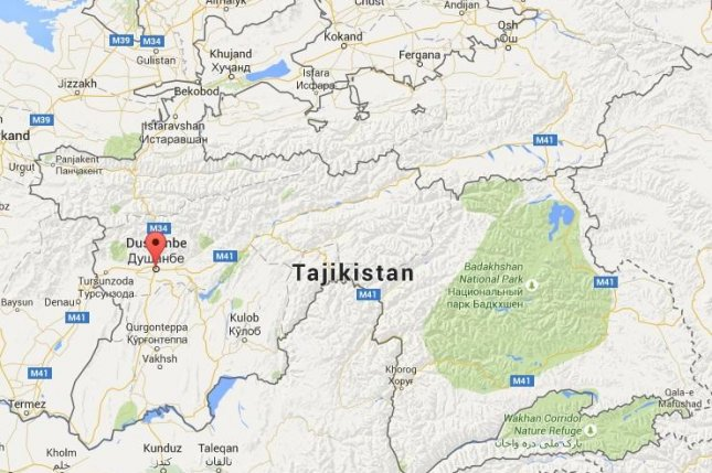Gun battles between authorities and an organized criminal group allegedly led by the former Deputy Minister of Defense of Tajikistan killed dozens of people in and around the country's capital over the weekend, according to reports. Google Maps image.