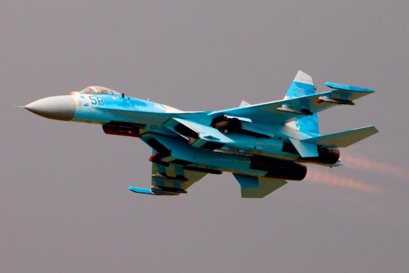 Su-27 fighter jet crashed in Ukraine