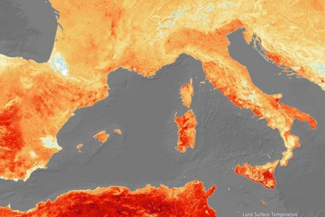 Rising temperatures are breaking June heat records across Europe. Photo by ESA