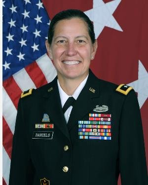 Daniels is the first woman to lead the U.S. Army Reserve in its 112-year history. Photo by Zach Mott/U.S. Army/UPI