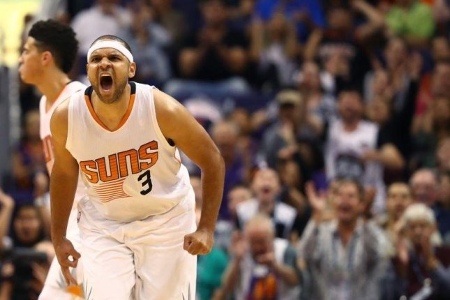 Phoenix Suns forward Jared Dudley will be sidelined for three to four months after undergoing surgery last week on his left toe ligament and bone. Photo courtesy of Phoenix Suns/Twitter