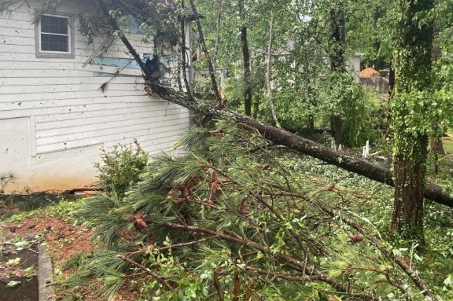 One man in Georgia died after a tornado touched down near the Atlanta area Monday morning and millions of people throughout the Southeast are forecast to face severe weather through Monday night. Photo courtesy Atlanta Mayor Keisha Lance Bottoms