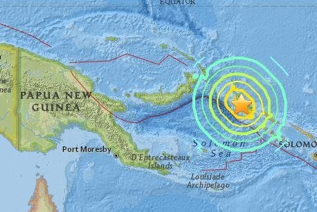 7.9 earthquake strikes near Papua New Guinea, Solomon Islands