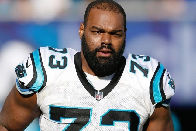The health of Michael Oher, who is still dealing with concussion aftereffects, is the No. 1 priority for the Carolina Panthers heading into minicamp next week. Photo courtesy Carolina Panthers/Twitter