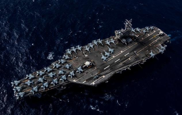 The aircraft carrier USS Ronald Reagan, with its strike force and carrier air wing, was deployed in the Indo-Pacific theater of operations, the Navy announced on Monday. Photo by MCS2 Kaila Peters/U.S. Navy