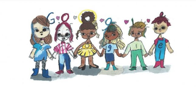 Texas 5th grader Sharon Sara's Doodle which has won the 2020 Doodle for Google contest. Image courtesy of Google