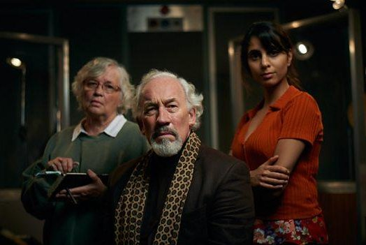 Susan Penhaligon, Simon Callow and Anjli Mohindra star in The Dead Room, a Christmas ghost story set to premiere Monday. Photo courtesy of the BBC