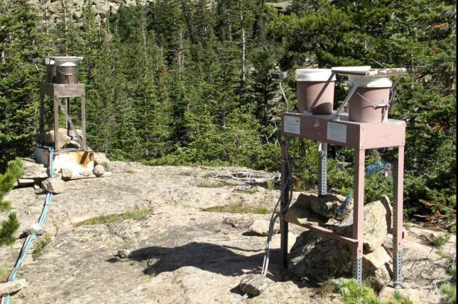 Researchers collecting rainwater in Rocky Mountain National Park found plastic microfibers. Photo by Greg Wetherbee / U.S. Geological Survey