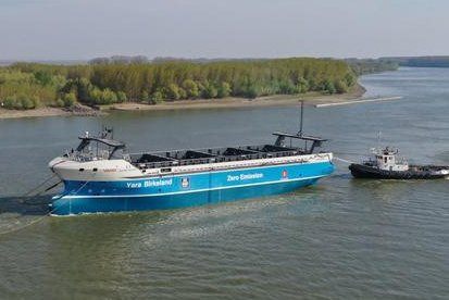 Zero-emission, crewless cargo ship to launch by year-end