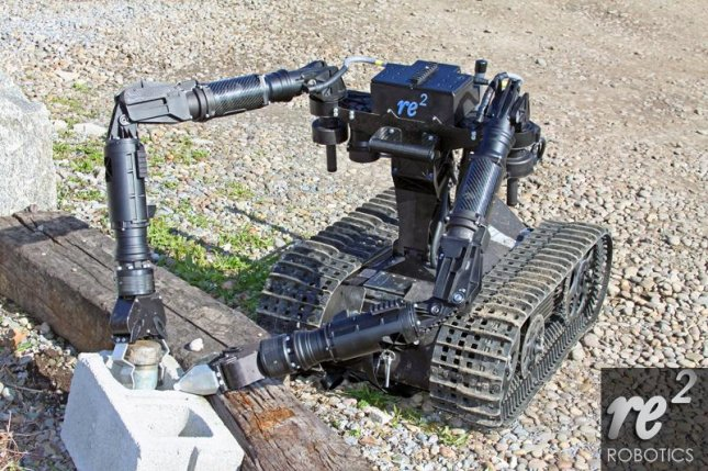 Manipulator arms are key for military ground robot capabilities. Photo: RE2 Robotics