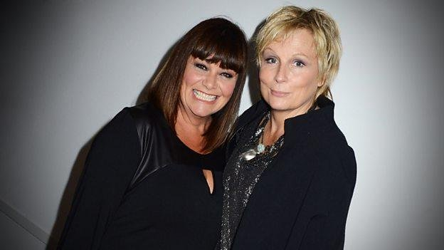 Photo of Dawn French and Jennifer Saunders, courtesy of the BBC