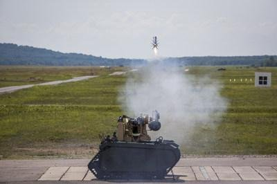 The Joint Venture Team has remotely launched Javelin missiles from an unmanned ground vehicle, Lockheed Martin and Raytheon announced Tuesday. Photo courtesy of Raytheon