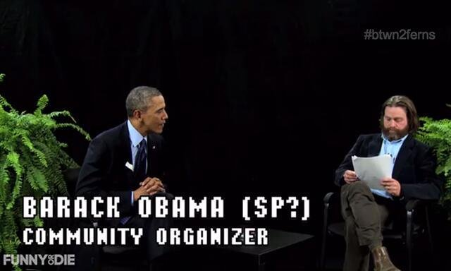 President Obama appears on 'Between Two Ferns' with Zach Galifinakis. (Funny or Die)