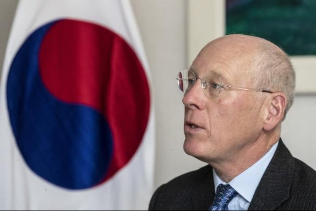John Everard, who was the top British envoy to the North from 2006 to 2008, said North Koreans do dream of unification but that dream consists of one strong Korea under the Kim dynasty. Photo by Moon Jae Won/UPI News Korea