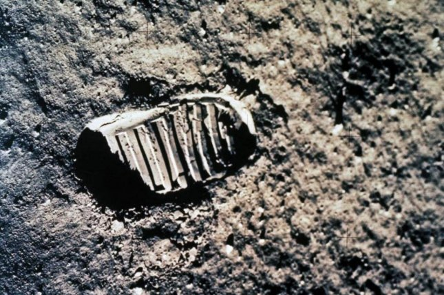 One of the first steps taken on the Moon, this is an image of Buzz Aldrin's bootprint from the Apollo 11 mission. Neil Armstrong and Buzz Aldrin walked on the Moon on July 20, 1969. Scientists think the footprint on the moons' surface will be gone sooner than expected due to meteoroids hitting the moon. Image courtesy NASA