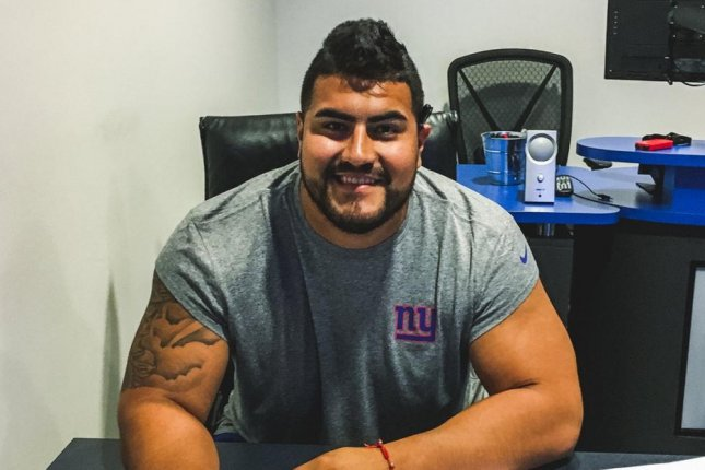 The New York Giants signed second-round draft pick Will Hernandez (pictured), the team announced Friday. Photo courtesy of New York Giants/Twitter
