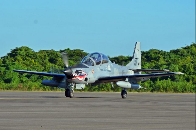 An A-29 Super Tucano operated by the Dominican Republic. U.S. Air Force photo by Capt. Justin Brockhoff