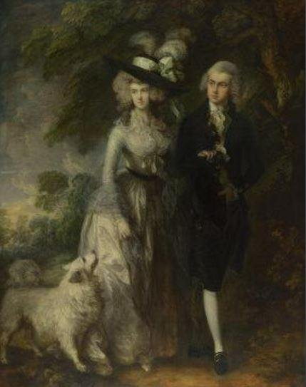 Thomas Gainsborough's 1785 painting titled Mr and Mrs William Hallett and commonly called The Morning Walk was damaged at The National Gallery in London on Saturday. Photo courtesy The National Gallery