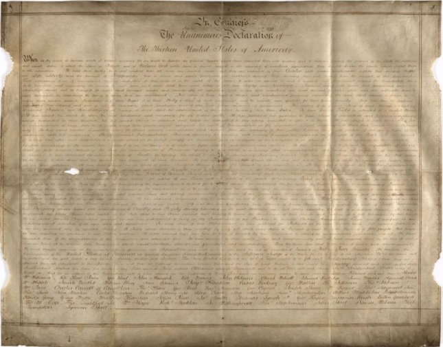 Researchers find unique US Declaration of Independence copy