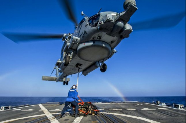 An MH-60R comes in for landing. U.S. Navy photo/y Mass Communication Specialist 2nd Class James Turne.
