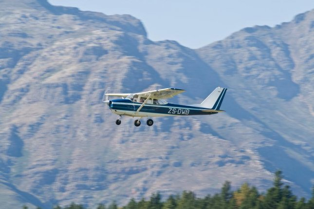 The pilot of a Cessna 172, similar to the one pictured, was found dead Monday morning after a crash attributed to heavy fog was discovered near Wayne, Neb. The Federal Aviation Administration is set to being an investigation into the crash on Monday. The pilot's identity has not been released, pending notification of relatives. File photo by James A. Harris/Shutterstock