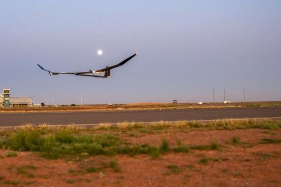 BAE Syatems announced the successful test flight in Australia of its high-altitude solar-powered plane. With a wingspan of 114 feet, it travels in the upper stratosphere and can stay aloft for a year. Photo courtesy of BAE Systems